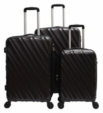 """3 PACK 20"""" 24"""" 28"""" Luggage Travel Set Bag ABS Trolley Suitcase Spinner Hardshell"""