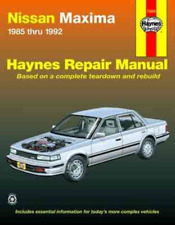 Haynes Workshop Manual Nissan Maxima 1985-1992 Service Repair Manual