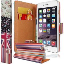 VINTAGE abatible Impreso CARTERA PIEL Funda para iPhone 6 PLUS 5.5 pulgadas GB