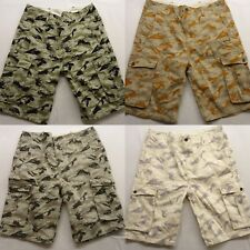 New Levis Straight Leg Relaxed Fit Camo Leaf True Chino Ace Cargo Shorts Size 32