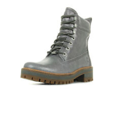 Chaussures Boots Timberland femme Courmayeur Valley taille Gris Grise Cuir