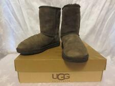 UGG Australia Womens BROWN Suede CLASSIC SHORT Shearling BOOTS Shoes 7 5825