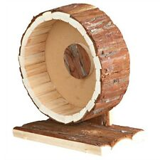 61035 Trixie Natural Wood Pet Cage Exercise Wheel - Hamster Gerbil Cage Wheel