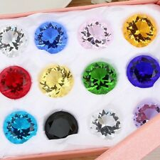 30mm 11 Colors Glass Crystal Diamond Shape Paperweights Facet Jewel Wedding Gift