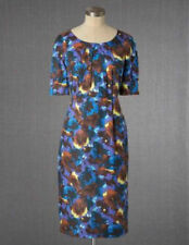 NEW BODEN Silk Blend Summer Floral Shift Dress Pleated neckline RRP £89 6-20
