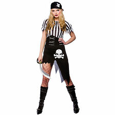 NEW Shipwrecked Pirate - Ladies Fancy Dress Halloween Party Costume Outfit