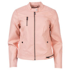 Womens Vero Moda Soffy Faux Leather Jacket In Rose Cloud