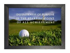 1 Golf Ball Print Inspirational Life Quote A3 A4 Or Laminated Quality Poster