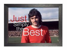 George Best - SIMPLY THE POSTER IRLANDESE CALCIATORE Manchester Winger IMMAGINE