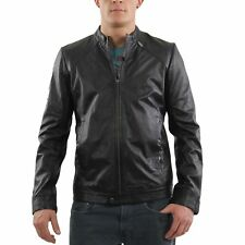 Diesel Giacca in pelle uomo laderry-r BLACK 0rc7vh 2° SCELTA