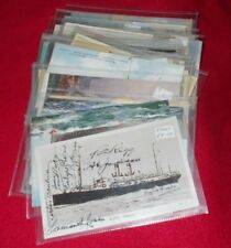 VINTAGE SHIPPING POSTCARDS VARIOUS CARDS POSTALLY USED & UNUSED -SELECT POSTCARD