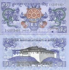 MULTI-VARIATION LISTING 2 denominations banknotes of Bhutan UNC
