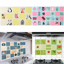 Kitchen Bathroom Self-adhesive Wall Paper Waterproof Foil Stickers Anti-oil Wrap