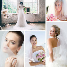Wedding Bridal Veil Sequin Edge/Ribbon Edge with Comb + Lace Fingerless Gloves