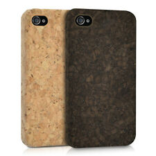 CARCASA RÍGIDA DE CORCHO PARA APPLE IPHONE 4 4S FUNDA PROTECTORA MADERA NATURAL