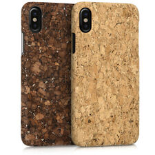 CARCASA RÍGIDA DE CORCHO PARA APPLE IPHONE X FUNDA PROTECTORA MADERA NATURAL
