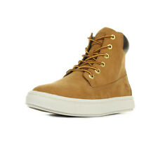 Chaussures Boots Timberland femme Londyn 6 Inch Wheat taille Jaune Cuir Lacets