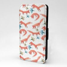 Foxes diseño estampado Funda libro para Apple iPhone - P1060