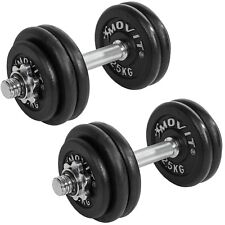 Movit Pesas Set de Pesas Pesas Short Dumbbell Cast Iron 20 30 40 50 60 Kg