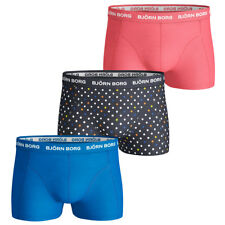 Bjorn Borg Mens BB Dot 3 Pack Stretch Boxer Briefs Durable Underwear 25% OFF RRP