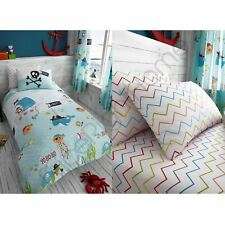UNDER THE SEA NAUTICAL PIRATE BOYS BEDDING - DUVET COVER SET / FITTED SHEET