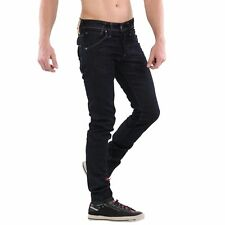 Jack & Jones Uomo Slim-Fit Elastica Jeans Pantaloni Glenn Fox Blu Scuro BL497