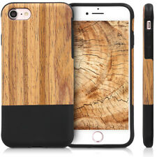 FUNDA PARA APPLE IPHONE 7 8 CARCASA TRASERA DE MADERA