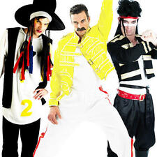 1980s Celebrity Mens Fancy Dress 80s Famous Music Pop Rock Star Adults Costume