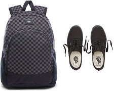 a5b8e8a6e6d1 Vans Authentic Canvas Shoe (Black Black)   Vans Doren BackPack (Charcoal)