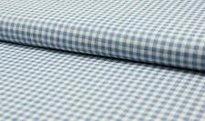 100% Cotton Denim Fabric Craft Material SMALL CHECK - LT JEANS