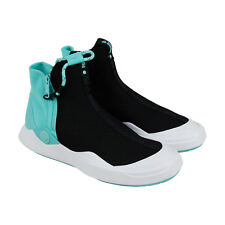 Puma X Diamond Abyss Mens Black Textile High Top Lace Up Sneakers Shoes
