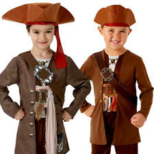 Pirates of the Caribbean Jack Sparrow Boys Fancy Dress Childrens Kid Costume New