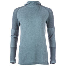 Womens adidas Primeknit Long Sleeve Wool Hooded Running T-Shirt In Utility Ivy
