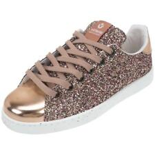Chaussures basses cuir ou simili Victoria Paillette rose metal Rose 75403 - Neuf