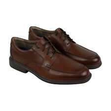 Bostonian Tifton Edge Mens Brown Leather Casual Dress Lace Up Oxfords Shoes