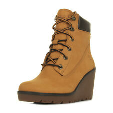 "Bottines Timberland femme Paris Height 6inch ""Spruce Yellow"" taille Beige Cuir"