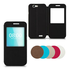 COVER PER HUAWEI ASCEND G7 CUSTODIA FINESTRA SIMIL PELLE