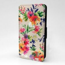 Diseño con Estampado Floral Estampado Funda Libro para Apple Iphone - P980