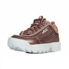 """Chaussures Baskets Fila femme Disruptor MM Low """"Ash Rosegold"""" taille Rose Cuir"""