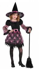 Girls Darling Pink Witch Halloween Book Day Fancy Dress Costume Outfit 4-10yrs