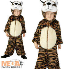 Tiger Kids Fancy Dress Jungle Zoo Animal Boys Girls Book Day Week Costume Outfit