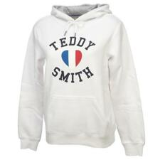Sweat capuche hooded Teddy smith Sofrench blanc cap sw g Blanc 12064 - Neuf