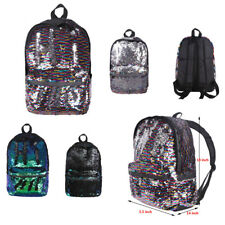 Sparkly Light Shoulder Backpack Dazzling Reversible Sequins School Travel Bag