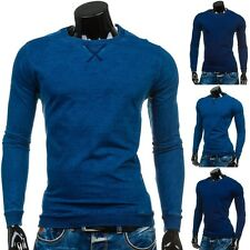 Bolf Homme Sweat Pull Maillot Manches Longues Pull Unicolore Col Rond 1a1 Motif