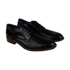 Steve Madden Hicksin Mens Black Leather Casual Dress Lace Up Oxfords Shoes