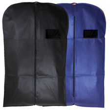Suit Cover Bags Mens Clear Plastic Breathable Travel Zipped Long Dress Covers