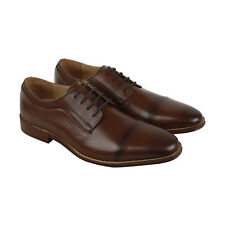 Steve Madden P-Ulrich Mens Brown Leather Casual Dress Oxfords Shoes