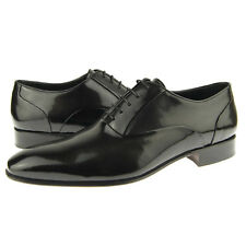 "Alex D ""Hollywood"" Dedo Pie Normal Oxford, Hombre Formal Zapatos de Cuero, Negro"