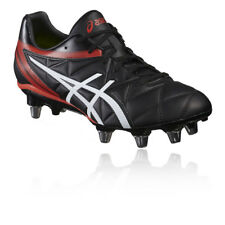 8d115faaf Asics Lethal Scrum SG Black White Vermilion Rugby Boots Size UK 8 9 10 11 12