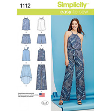 Misses Tie Neck Top, Trousers or Shorts and Skirt Simplicity Sewing Pattern 1112